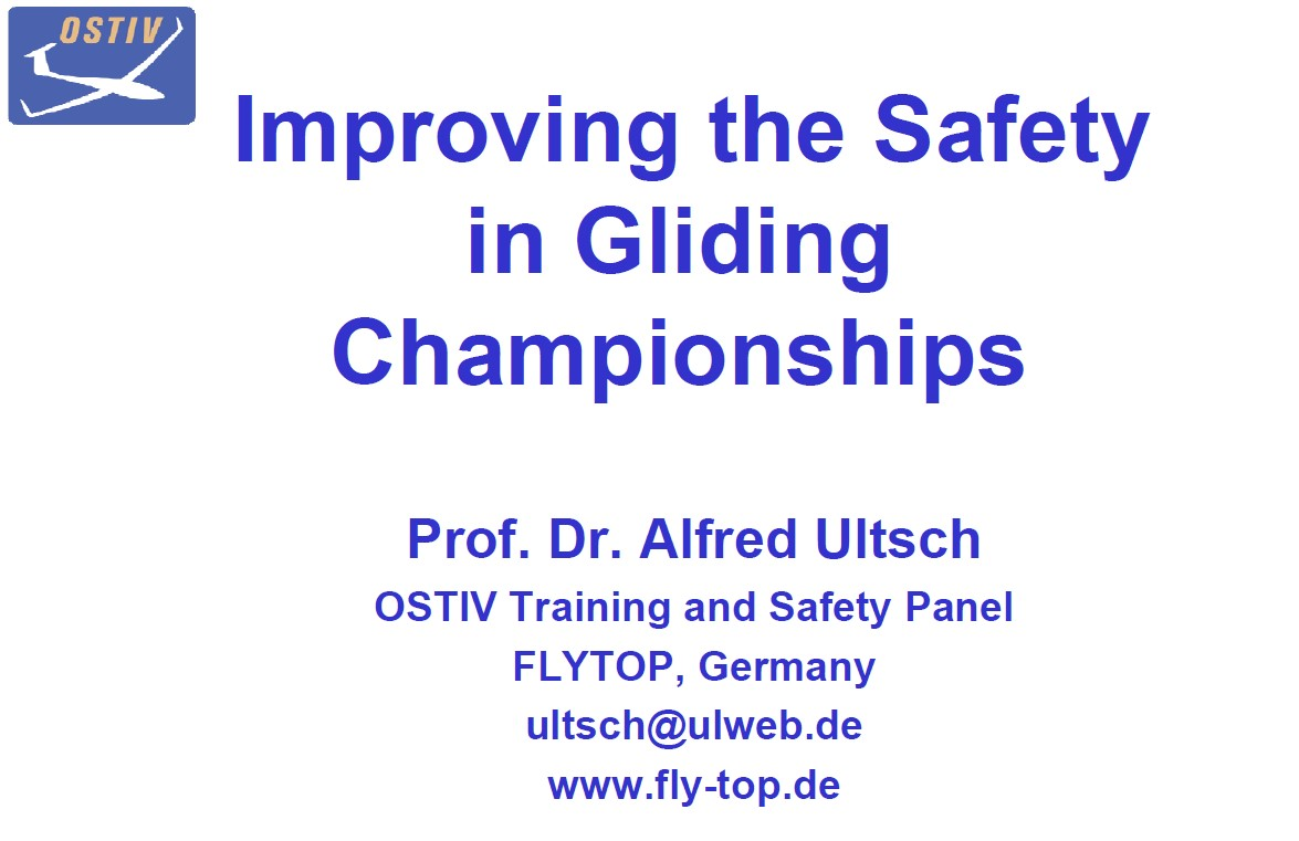 Improving the Safety in Gliding Championships - Alfred Ultsch